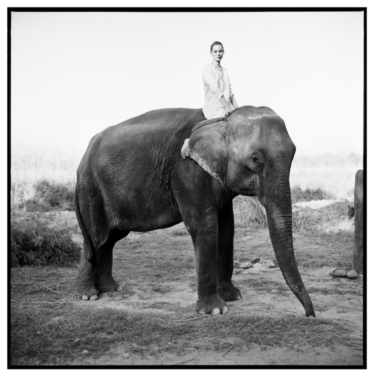 "Arthur Elgort ""Kate Moss, Nepal, VOGUE UK, 1994"""