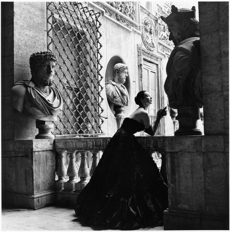 "Genevieve Naylor ""Model in dress by Simoneta Visconti, Rome, Harper's Bazaar, 1952"""