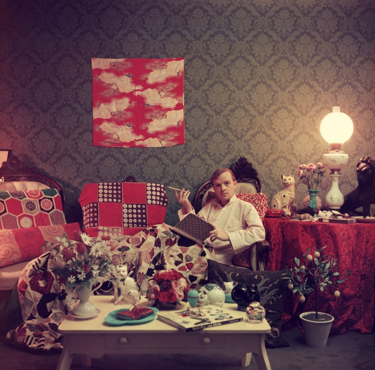 "Slim Aarons ""Truman Capote in his Brooklyn Heights Apartment, 1958"""