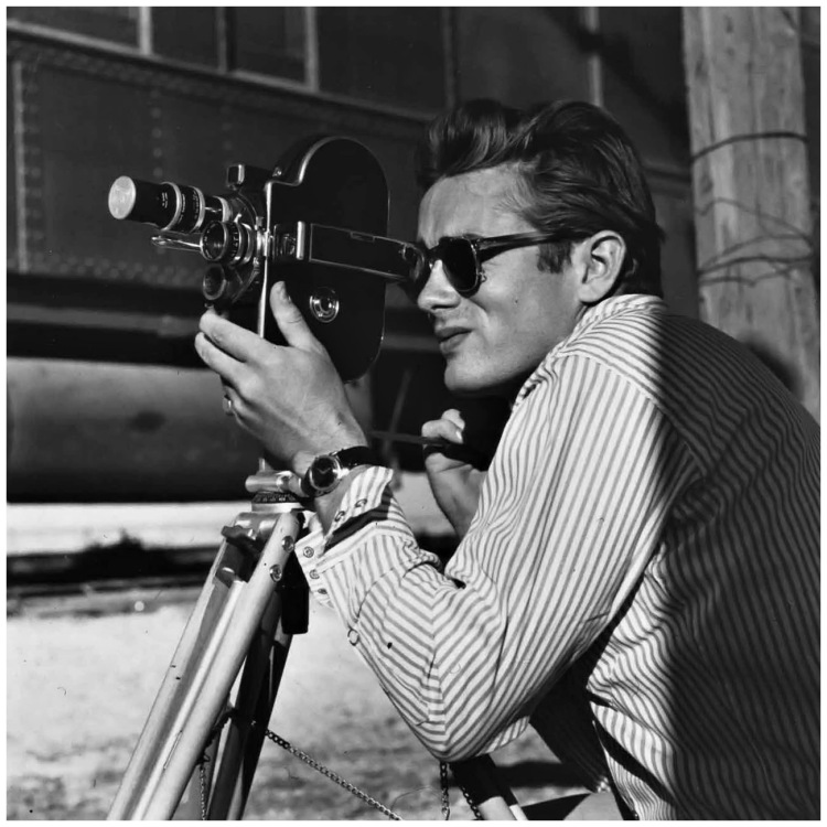 "Sid Avery ""James Dean on the set of Giant, 1955"""