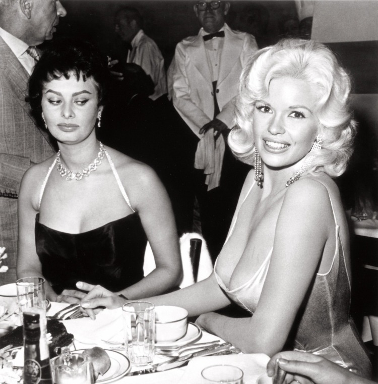 "Joe Shere ""Jayne Mansfield and Sophia Loren at Romanoff's, Beverly Hills, circa 1958"""