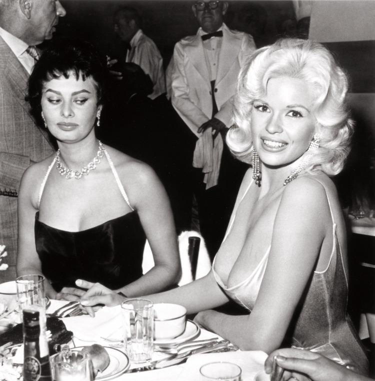 "Joe Shere ""Jayne Mansfield and Sophia Loren at Romanoff's, Beverly Hills, circa 1958"""