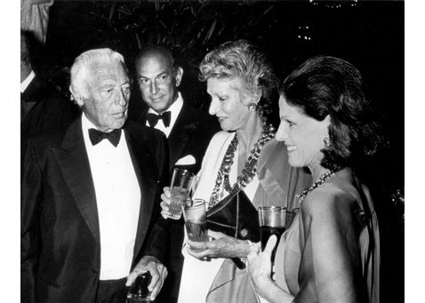 "Ron Galella, ""Gianni Agnelli, Oscar de la Renta, Marella Agnelli, and Annette Reed at Malcolm Forbes' 70th Birthday Party, Tangier, Morocco, 1989"""